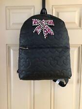 bcc92e75359 Betsey Johnson BM20750 Jeweled Sparkle Bow Large Black Backpack NWT