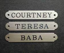 "SADDLE PLATE 2 1/2"" x 3/8"" Custom Engraved Solid Nickel Silver Bridle or Brow"