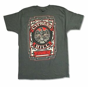 Cypress Hill Grey Crest Charcoal Grey T Shirt New Official Band Music