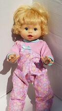 Interactive Baby Doll Alive Walks Giggle Talks Blonde Hair Blue 2006 2008 Mattel