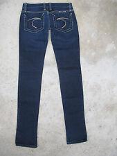 Frankie B Jeans F Pockets Low Rise Slim Skinny Dark Sz 0