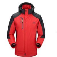 Men Soft Shell Hiking Jacket Outdoor Coat Waterproof Windproof Anti Sweat Jacket