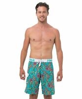 69 Slam  Panama Long Length Boardshorts - Size 40-  Beach Surf Swim Short