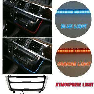 LED Light Dash Radio Trim Illuminated AC Panel Decoration For BMW F31 F30 F32