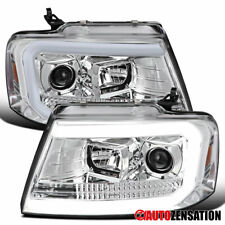 For 2004-2008 Ford F150 2006-2008 Mark LT Projector Headlights Lamps+LED Strip