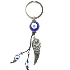 Turkey Blue Evil Eye Wing Keychain Car Key Chain Ring Amulet Pendant Lucky Charm