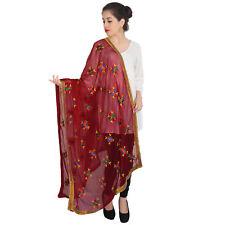 Scarf Designer Indian Bollywood Ethnic Women Red Long Scarf Shawl