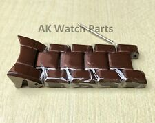 5 TOP feste braun Keramik links passt Emporio Armani AR1446 Spare Strap/Armband