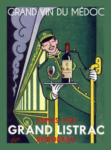 Decorative Poster.Home Room interior wall design.Bordeaux wine in train.7869