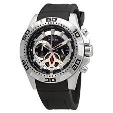 Invicta Aviator Multi-Function Black Carbon Fiber Dial Mens Watch 21735