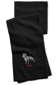 NWT - POLO RALPH LAUREN Limited Edition Men's Wool-Blend French Bulldog Scarf