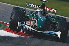 Eddie Irvine Hand Signed Jaguar Racing 12x8 Photo F1 1.