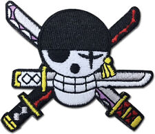 """One Piece Anime ZORO NEW WORLD SKULL Patch 2"""" Licensed by GE Animation 44269"""