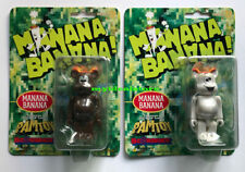 Medicom Toy Be@Rbrick 100% Manana Banana Pam Toy Brown & White Set sealed 2005