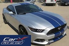 Genuine 3M 1080-M227 Matte Metallic Blue Twin Stripes kit for Ford Mustang 2015+