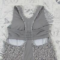 Lululemon Womens Tank Top sleeveless workout yoga top gray floral XS X