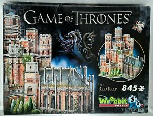 Wrebbit PUZZLE 3D 🧩 GAME OF THRONES - THE RED KEEP 🏰 845 Pieces / 42x32x39cm