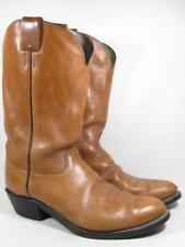 Vintage Olathe Western Ranch Cowboy Boot Men size 12 D Tan Leather