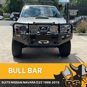 NISSAN NAVARA D22 2002-2015 BULL BAR WINCH BAR WITH LIGHTS 4X4