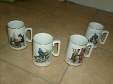 Lot 4 Norman Rockwell mugs For A Good Boy River Pilot Looking Out To Sea Braving