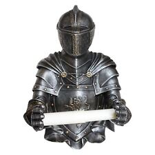 Sir Wipealot Toilet Roll Holder 32cm High Wall Mount Medieval Knight Nemesis Now