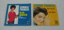 2-Connie Francis 45 rpm Picture Sleeve Records Blue Winter & Many Tears Ago