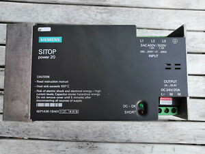 Siemens SITOP Power 20 6EP1436 - Output 24Vdc 20A 480W