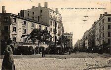CPA LYON Place du Pont et Rue de Marseille (462713)