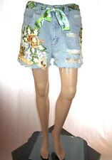 Vtg JOHN BANER Women Distress Hot Pants Shorts Hand Custom High Waist sz 16 AF40