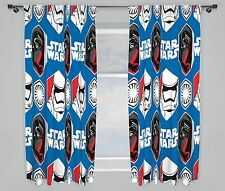 "DISNEY STAR WARS EPISODE 7 AWAKEN CURTAINS 66""x72"" INCH DROP KIDS BEDROOM"