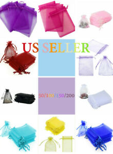 "New ""4x4"" Drawstring Organza Bags Jewelry Pouches Wedding Party Favor Gift Bags"