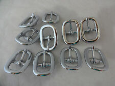 "Lot 10 Halter Buckles Horse Headstall Chrome over Brass 3/4"" Weaver Leather New"