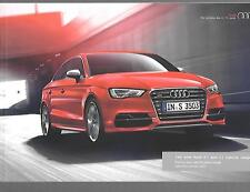 AUDI A3 AND S3 SALOON ILLUSTRATED PRICE & SPECIFICATION SALES BROCHURE JAN. 2014