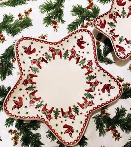 EMMA BRIDGEWATER CHRISTMAS JOY MEDIUM STAR PLATE 32CM - NEW