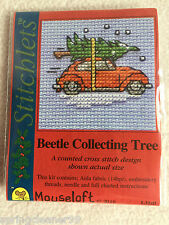 MOUSELOFT STITCHLETS CROSS STITCH KIT ~ BEETLE COLLECTING TREE ~ NEW