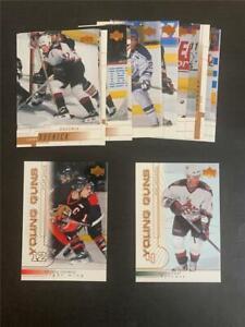 2000/01 Upper Deck Phoenix Coyotes Team Set 16 Cards Young Guns