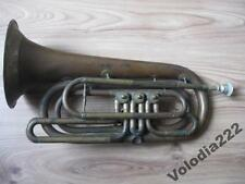 Antique Vintage Tuba Collectible Musical Instrument Czechoslovakia. Copper. OLD