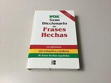 VOX GRAN DICCIONARIO DE FRASES HECHAS, LA REFERENCIA, HARDBACK