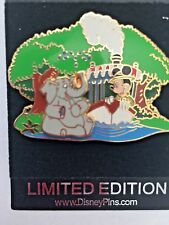 Disney Pins Mickey and Elephant on Jungle Ride Limited Edition 3D