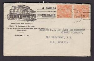 Australia illustrated Advertising envelope Sampsons Cycles Adelaide 1926 to USA