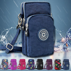Ladies Nylon Cross Body Messenger Bag Womens Shoulder Cell Phone Pouch Handbag