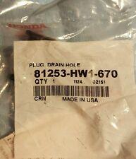 OEM Honda 81253-HW1-670 Drain Plug Aquatrax ARX1200 New