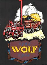 Original vintage poster print WOLF GERMAN AGRICULTURE TRUCKS 1912