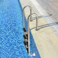 Costway Edelstahl Poolleiter Schwimmbad Leiter