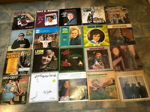 "job lot 20 American country bluegrass banjo music records 12"" LP VINYL  1 signed"