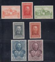 ESPAÑA (1930) SERIE NUEVA COMPLETA SIN FIJASELLOS MNH -EDIFIL 559/65 COLON