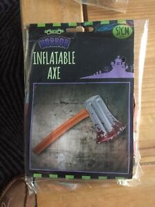 BRANDNEW AND SEALED ( INFLATABLE AXE AND CHAINSAW ) Brilliant FOR Halloween