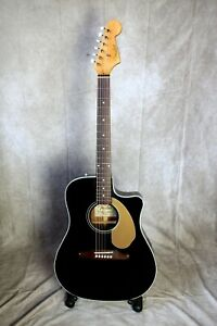 Fender Sonoran Thinline electro-acoustic guitar, Black