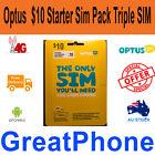 Optus $10 Starter Sim Pack Triple SIM