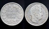 5 FRANCS 1841 W - FRANCE - Louis Philippe (argent / silver) Lille